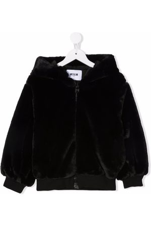 Msgm Embroidered-logo bomber jacket