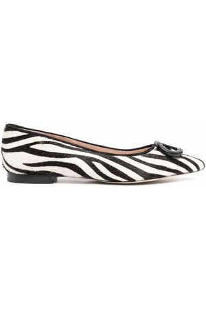 DEE OCLEPPO Jungle zebra-print ballerina shoes