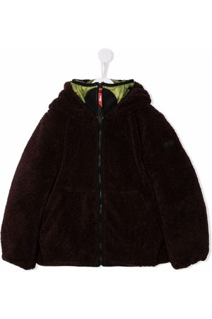 Ai Riders on the Storm Hooded faux fur jacket
