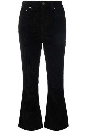 Ganni Ribbed flared trousers