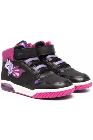 Geox Embroidered high-top sneakers