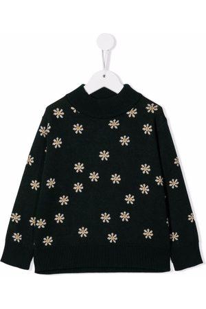 Tiny Cottons Daisies mockneck jumper