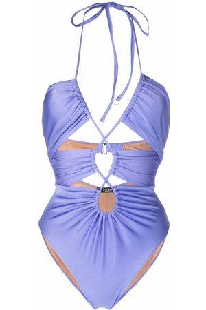 Noire Swimwear Gathered cut-out swimsuit