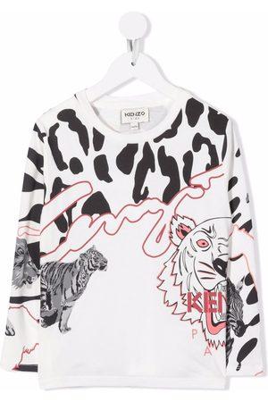 Kenzo Logo-print animal T-shirt