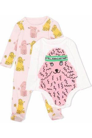 Stella McCartney Poodle-print babygrow and body set
