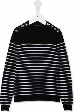 Balmain Stripe long-sleeve jumper