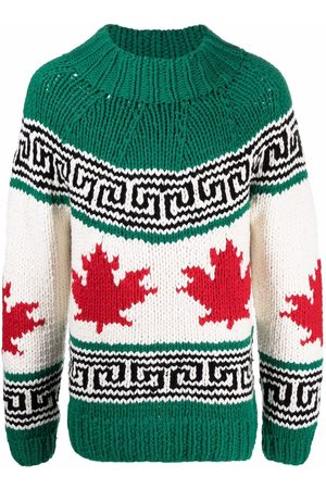 Dsquared2 Intarsia-knit mock-neck jumper