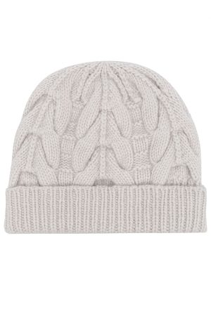 N.PEAL Antler cable-knit hat