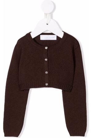 COLORICHIARI Ribbed-knit wool cardigan