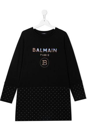 Balmain Girls Casual Dresses - TEEN quilted T-shirt dress