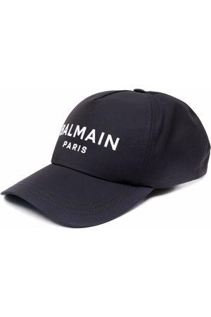 Balmain Men Hats - Logo-embroidered baseball cap