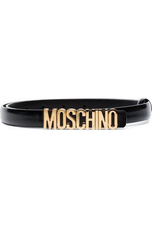 Moschino Women Belts - Logo skinny belt