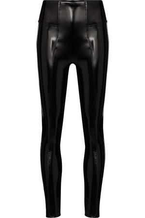 Spanx Women Leggings - High-rise faux-leather leggings
