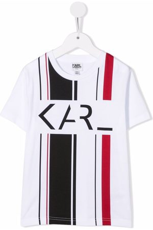 Karl Lagerfeld Boys Short Sleeve - Striped organic cotton T-shirt
