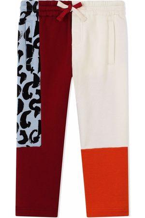 Dolce & Gabbana Drawstring contrast-panel trousers