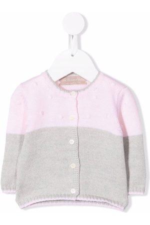 LA STUPENDERIA Baby Cardigans - Cashmere two-tone cardigan