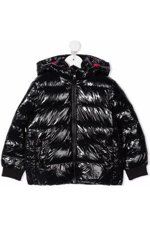 Calvin Klein Girls Bomber Jackets - Logo print puffer jacket