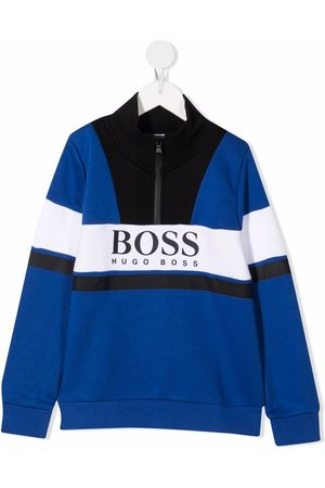 HUGO BOSS Logo-print zip-front jumper