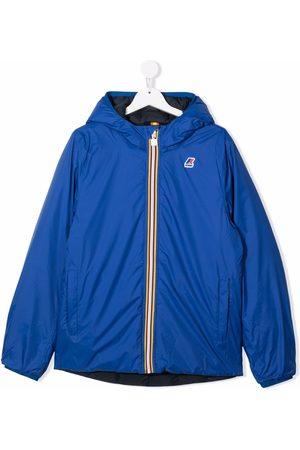 K-Way TEEN Claude logo-print hooded jacket