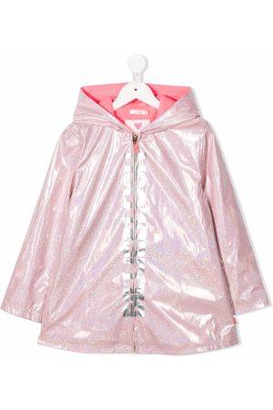 Billieblush Logo-print glittered rain coat