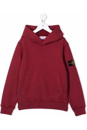 Stone Island Logo-patch cotton hoodie