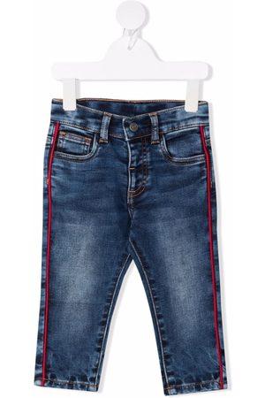 MONNALISA Contrasting-trim jeans