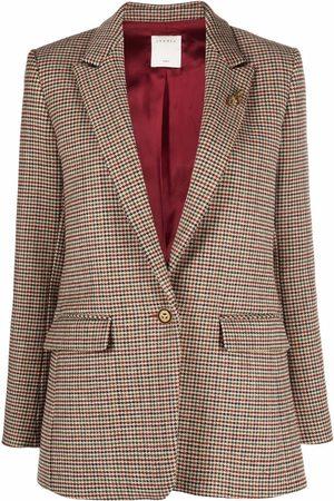 Sandro Queen houndstooth blazer jacket