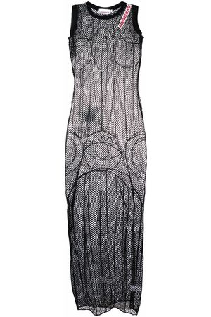 Charles Jeffrey Loverboy Embroidered open-knit maxi dress