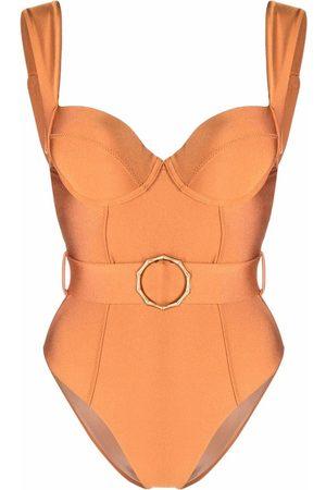 Noire Swimwear Belted one piece swimsuit