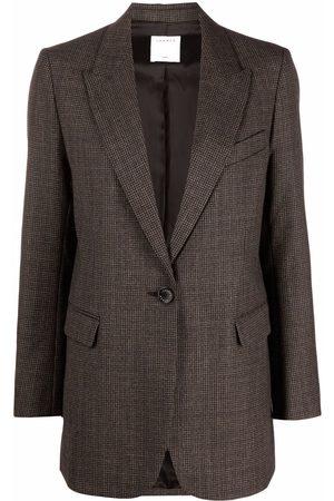 Sandro Check-pattern single-breasted blazer