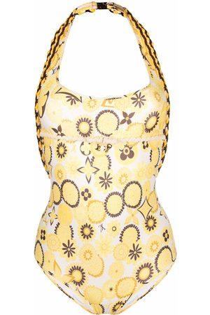 LOUIS VUITTON Pre-owned floral print swimsuit
