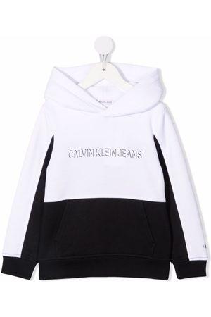 Calvin Klein Colour-block logo-print hoodie