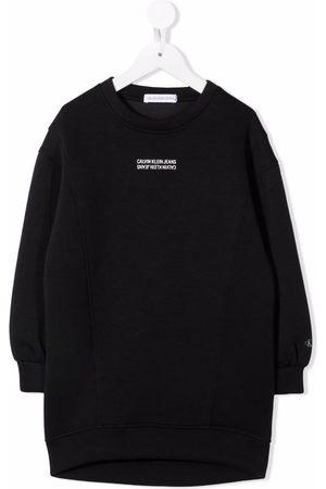 Calvin Klein Logo-print sweatshirt dress