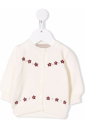 LA STUPENDERIA Floral-knitted cardigan