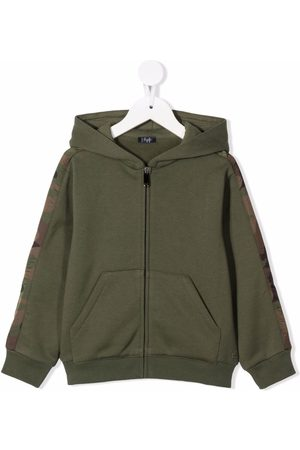 Il gufo Camouflage-trimmed hoodie