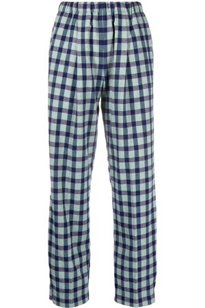 FORTE FORTE Checked wool-blend trousers