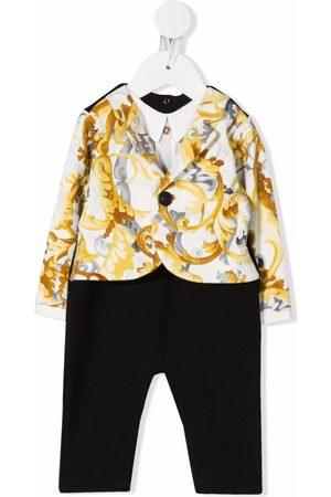 VERSACE Baroccoflage-print suit-like romper