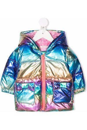 Billieblush Baby Jackets - Metallic-effect hooded padded jacket