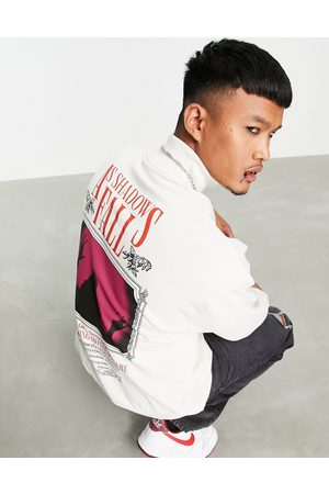 ASOS Oversized sweatshirt in with gothic movie poster back print