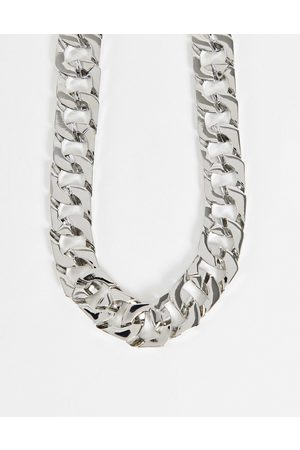 ASOS Necklace in square edge curb chain in tone