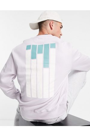 Topman Men Sweatshirts - New york city print sweatshirt in lilac