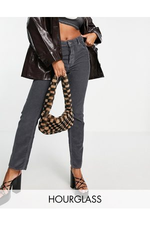ASOS Women Straight - Hourglass mid rise '90s' straight leg jeans in granite cord