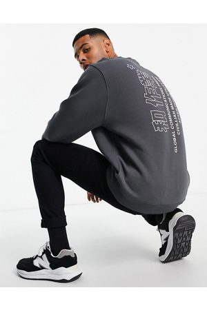 River Island Sweat with back print in washed