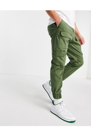 ASOS Men Chinos - Tapered trousers with multi pockets in khaki