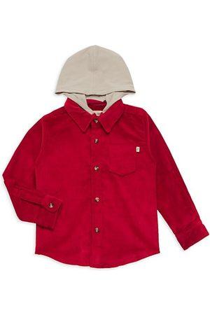 Me & Henry Boys Shirts - Little Boy's Corduroy Hooded Shirt