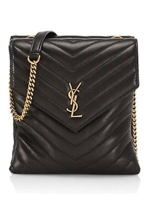 Saint Laurent Women Handbags - Matelassé Leather Double Flap Shoulder Bag