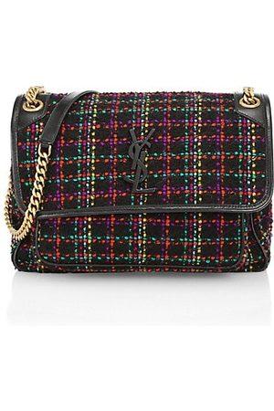 Saint Laurent Women Handbags - Medium Niki Tweed Chain Shoulder Bag