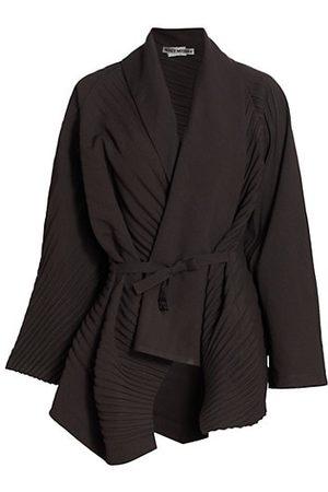Issey Miyake Slant Pleated Belted Jacket