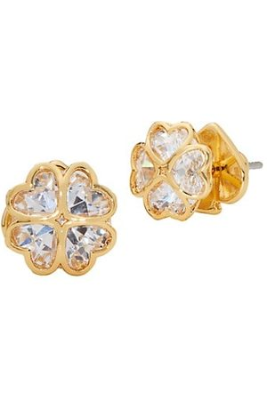 Kate Spade Earrings - Goldtone & Cubic Zirconia Heart Cluster Stud Earrings