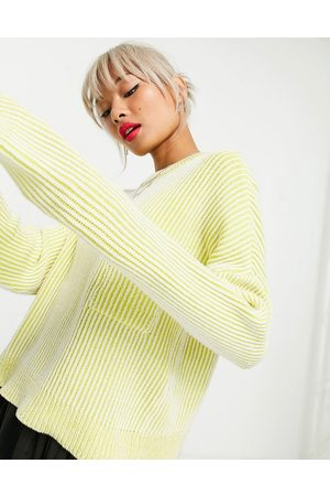 Noisy May Women Jumpers - Jumper with pocket detail in stripe